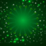 Boże Narodzenia i nowego roku nieba fajerwerk Zdjęcie Stock