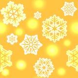 Boże Narodzenia i Nowego Roku płatka śniegu wzór bezszwowy Zdjęcie Stock