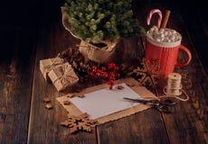 Boże Narodzenia i nowego roku skład zdjęcia royalty free