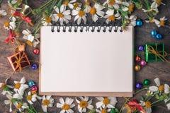 Boże Narodzenia i nowego roku tła drewniany sztandar zdjęcie royalty free