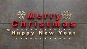 Boże Narodzenia i nowego roku tło, 3D rendering Zdjęcia Royalty Free