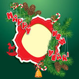 Boże Narodzenia i nowego roku tło - jedlinowego drzewa branc ilustracji