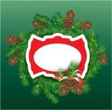 Boże Narodzenia i nowego roku tło - jedlinowego drzewa branc royalty ilustracja