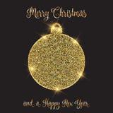 Boże Narodzenia i nowego roku tło z glittery bauble projektem royalty ilustracja