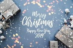 Boże Narodzenia i nowego roku wakacje tło Xmas kartka z pozdrowieniami chłopiec wakacji lay śniegu zima ilustracja wektor