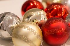 Boże Narodzenia i nowy rok dekoraci koloru piłki Zdjęcie Royalty Free