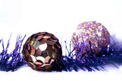 Boże Narodzenia i nowy rok dekoracje w fiołek skala Fotografia Royalty Free
