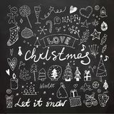 Boże Narodzenia i nowy rok Doodles set zdjęcia royalty free