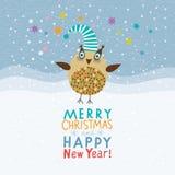 Boże Narodzenia i Nowy Rok karta ilustracji