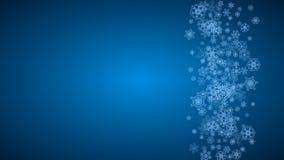 Boże Narodzenia i nowy rok płatki śniegu ilustracji
