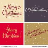 Boże Narodzenia i nowy rok powitań handmade set Fotografia Stock