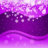 Boże Narodzenia i nowy rok ultrafioletowi płatki śniegu ilustracja wektor