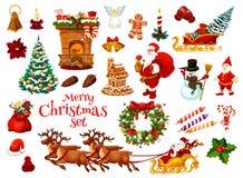 Boże Narodzenia i nowy rok wakacyjna ikona Xmas projekt ilustracja wektor