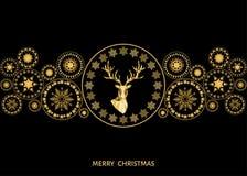 Boże Narodzenia i nowy rok złota dekoracja Fotografia Royalty Free