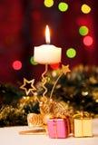 Boże Narodzenia i prezentów pudełka candle. Fotografia Royalty Free