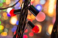 Boże Narodzenia i przyjęć światła pewny typ zdjęcia stock