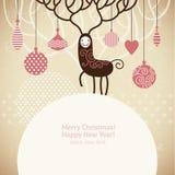 boże narodzenia jeleni ilustracji