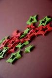 boże narodzenia kopiują dekoracj ostrości złocistego wielkiego ornamentu czerwieni przestrzeni drzewa Fotografia Stock