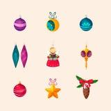 boże narodzenia kopiują dekoracj ostrości złocistego wielkiego ornamentu czerwieni przestrzeni drzewa kartonowe koloru ikony usta Fotografia Royalty Free
