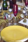 Boże Narodzenia lub dziękczynienia stołowy położenie zdjęcie stock