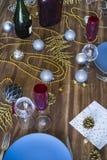Boże Narodzenia lub dziękczynienia stołowy położenie obraz royalty free