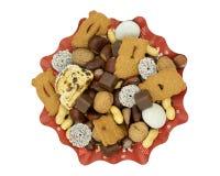 Boże Narodzenia matrycują z stollen, speculoos, czekolada, daty i nu, zdjęcia stock
