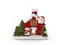 Boże Narodzenia Mieścą figurkę Zdjęcia Stock