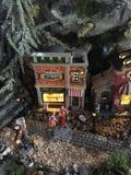 Boże Narodzenia modelują wioskę Zdjęcie Royalty Free