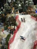 Boże Narodzenia modelują wioskę Fotografia Royalty Free