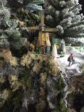 Boże Narodzenia modelują wioskę Obraz Stock