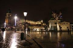 Boże Narodzenia na Krakow głównym placu Fotografia Royalty Free