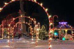 Boże Narodzenia na kwadracie fotografia royalty free