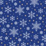 Boże Narodzenia, nowego roku bezszwowy wzór, płatek śniegu kreskowa ilustracja Wektorowe ikony zima wakacje, zimny sezonu śnieg Obraz Stock
