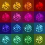 Boże Narodzenia, nowego roku s koloru piłki Cień obrazek i kolor Zależymy na tło kolorze ilustracji