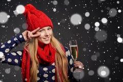 Boże Narodzenia, nowy rok, zima wakacji świętowania pojęcie Fotografia Stock