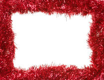 boże narodzenia obramiają prostokątną girlandy czerwień Fotografia Royalty Free