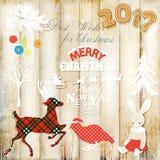 Boże Narodzenia obrazują dla projekta również zwrócić corel ilustracji wektora Zdjęcie Stock