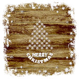 Boże Narodzenia obrazują na drewnianym tle również zwrócić corel ilustracji wektora Obraz Stock