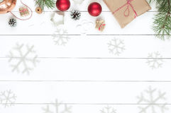 Boże Narodzenia odizolowywający na białym tle Fotografia Royalty Free