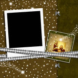 Boże Narodzenia opróżniają fotografii ramę Zdjęcia Royalty Free