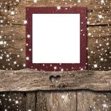 Boże Narodzenia opróżniają fotografii ramy kartę Copyspace fotografia royalty free