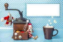 Boże Narodzenia opróżniają szyldowego deskowego retro tło Obrazy Stock