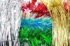 Boże Narodzenia ornamentują, gwiazdy, rożki, piłki, świecidełko Zdjęcia Royalty Free