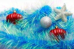 Boże Narodzenia ornamentują, gwiazdy, rożki, piłki, świecidełko Obrazy Royalty Free