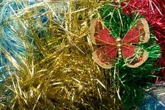 Boże Narodzenia ornamentują, gwiazdy, rożki, piłki, świecidełko Zdjęcie Royalty Free