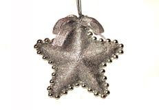 boże narodzenia ornamentują kształtną gwiazdę Obrazy Royalty Free