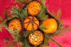 Boże Narodzenia ornamentują z pomarańcze Zdjęcie Royalty Free