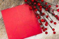 Boże Narodzenia piszą list z copyspace Obrazy Royalty Free