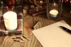Boże Narodzenia piszą list z pikantność Obrazy Stock