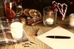 Boże Narodzenia piszą list z pikantność Zdjęcie Royalty Free